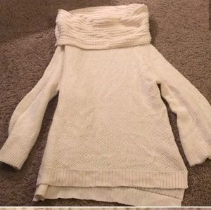 Cream color over sized sweater from target
